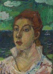 Marusia's Portrait - David Davidovich Burliuk - The Athenaeum