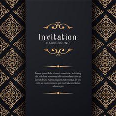 Ornamental wedding invitation with elega. Invitation Background, Background Banner, Vector Background, Poster Background Design, Photo Background Images, Indian Wedding Invitation Cards, Wedding Cards, Motif Arabesque, Masquerade Invitations