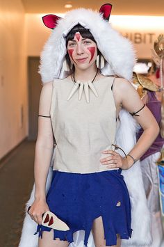 princess mononoke san cosplay and other stunning halloween costume ideas sdcc 2012 by