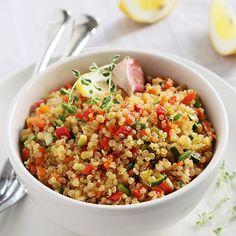 Salada de Quinoa Tostada com Limão e Ervas