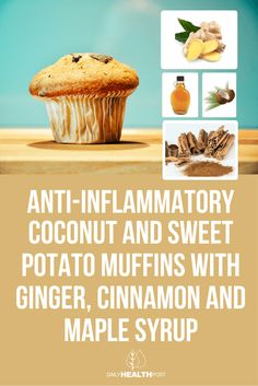Anti-Inflammatory Coconut and Sweet Potato Muffins with Ginger, Cinnamon and Maple Syrup via @dailyhealthpost
