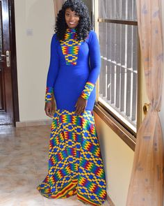Ready for the African traditional wedding in my bespoke gown 💜 African Attire, African Fashion Dresses, African Dress, Nigerian Wedding Dresses Traditional, African Traditional Wedding, Ankara Gowns, Ankara Dress, African Style, African Beauty