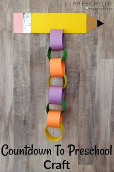 This Countdown to Preschool Back to School Craft is a fun and interactive way for children tocountdown to the first day of preschool. Back To School Party, Back To School Crafts, 1st Day Of School, Back To School Activities, School Parties, First Day Of School Pictures, School Days, Middle School, High School