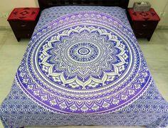 Hippie Mandala bedsheet Mandala Wall tapestry by MyArtandKraft