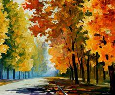 September morning by Leonid Afremov by Leonidafremov.deviantart.com on @DeviantArt