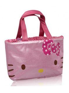 Hello Kitty Metallic String Open Tote Bag