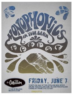 Over the past six years, Monophonics have staked their claim as the San Fran Bay Area premier funk/soul band Raised amid the city's rich musical culture, these young musicians proudly carry on the tradition of music.  Monophonics were formed in 2005; originally an instrumental ensemble comprised of guitarist Ian McDonald, bassist Myles O'Mahony, saxophonist Alex Baky, trumpeter Ryan Scott, & drummer Austin Bohlman, the band has recently added the dynamic soul vocals of keyboardist Kelly Finnigan