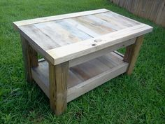 Made another coffee table out of pallet and random wood as a gift.