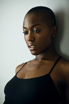Great Short Hairstyles for Black Women – My hair and beauty Bald Hair, My Hair, Natural Hair Styles, Short Hair Styles, Bald Women, Dark Skin Beauty, My Black Is Beautiful, Beautiful Body, Beautiful Pictures