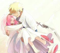 Just Married | Naruto x Sakura | NaruSaku | Heaven & Earth | Orange / Yellow & Pink / Red | The Hero & The Heroine | Naruto Shippuden Couple | OTP