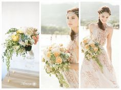 Yellow and pinks bouquet