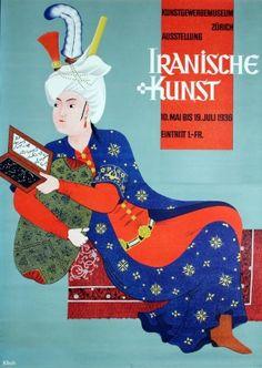 Original Vintage Posters -> Advertising Posters -> Iranian Art Zurich 1936 Iran - AntikBar