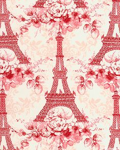 Eiffel tower  fabric - MUST have this, but in BLUE!!!!!!