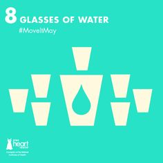 #MoveItMay Day 8: Drink 8 glasses of water today. Drinking water not only helps you stay hydrated, but also helps flush toxins out of your vital organs. (via @Mayo Clinic)