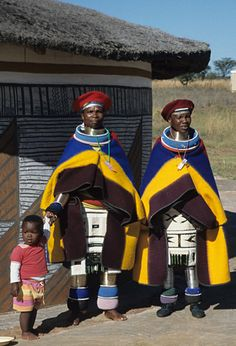Africa | Ndebele women dressed in traditional attire.  South Africa || ©Neil Harris