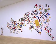 Tony Cragg artist, collage, found objects