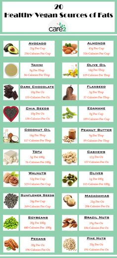 Unlike fats from animal foods, these foods contain fiber which helps control hunger and promote weight loss. Now, here are 20 healthy vegan sources of fats you should eat every day.