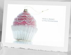Christmas Card Cupcake holiday treat  Photo by HPaquinPhotography, $4.00