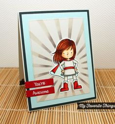 You're Super, Pierced Rectangle STAX Die-namics, You're Super Die-namics, Sun Ray Stencil - Amy Rysavy #mftstamps