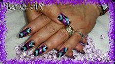 #nail #nailart #gelnail #design #woww #purple #original