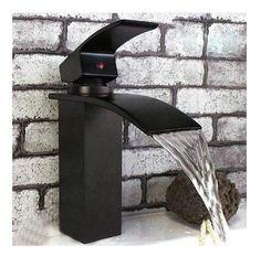 Waterfall Bathroom Sink Oil Rubbed Bronze Vessel Vanity Mixer Tap Faucet YF 090   eBay...brick wall black and white