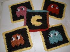 365 Crochet: Pac Man Dish Cloths Crochet Pattern