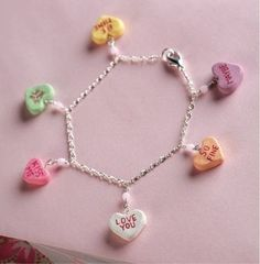 """Polymer Clay """"candy"""" hearts"""