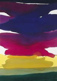 The Antelucan Hourglass - Gretchen Albrecht Cerise Sky Arthur Dove, Robert Rauschenberg, Helen Frankenthaler, Abstract Landscape, Abstract Art, Nz Art, Colour Field, Felder, American Artists