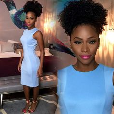 "Teyonah Parris on Instagram: ""Tune in to @MyFoxLA this morning to catch me talking about #SurvivorsRemorse!! Season 2 premieres Aug. 22 at 9:30pm on #STARZ !! @melissahibbert @CalvinKlein @MossimoFootwear"""