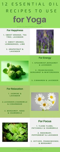 12 Essential Oil Recipes great for Yoga