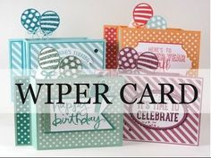 VIDEO - Pop Up Balloons Wiper Cards - Barbstamps!! Barb Mullikin Stampin' Up! Demonstrator