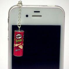 Kawaii PRINGLES ORIGINAL Iphone Earphone by fingerfooddelight, $8.50