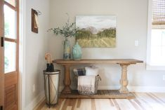 Tips for adding custom elements to your home. Cabinet Paint Colors, Wall Paint Colors, Benjamin Moore Beach Glass, Modern Craftsman, Dining Nook, Find Furniture, Painting Cabinets, Beautiful Space, Beautiful Interiors