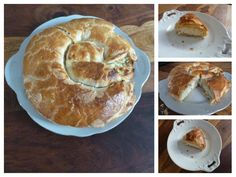 Pie with cheese and dill