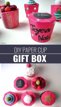 DIY Gift Wrapping Ideas - How To Wrap A Present - Tutorials, Cool Ideas and Instructions | Cute Gift Wrap Ideas for Christmas, Birthdays and Holidays | Tips for Bows and Creative Wrapping Papers |  Paper-Cup-Gift-Box  |  http://diyjoy.com/how-to-wrap-a-gift-wrapping-ideas