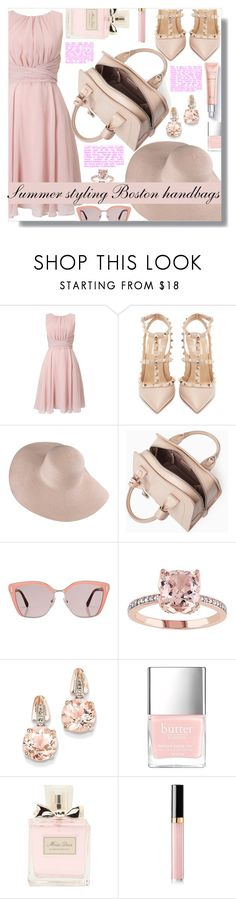 """Summer styling Boston handbags - Contest!!!"" by sarahguo ❤ liked on Polyvore featuring Phase Eight, Valentino, Max&Co., Prada, BillyTheTree, Christian Dior and Chanel"