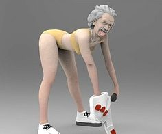 """The twerking Miley Einstein is the complete package – beauty and brains. This hilarious figurine mashes up one of the greatest minds in history with one of the most """"talented entertainers"""" of our easily amused generation, Miley Cyrus. Creative Gifts, Unique Gifts, Naughty Disney Princesses, Let It Die, Incredible Gifts, Wild Style, Statue, Hilarious, Funny"""