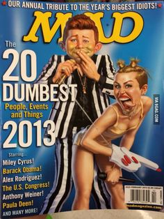 The cover of the new Mad magazine.