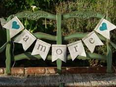 Burlap+banner+LOVE.+Amore+with+hearts+Wedding+by+butterflyabove,+$25.00