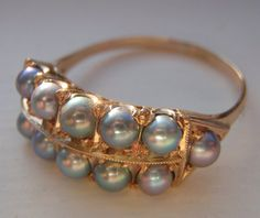 RESERVED for SAVANNAH Vintage Cultured Pearl Solid Gold Ring. Exquisite Gift. Vintage Pearl Heaven. Stunning Luster & Quality.