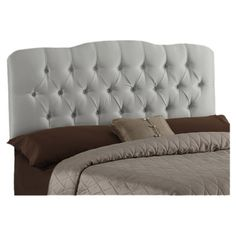 Skyline Furniture Tufted Shantung Arch Upholstered Headboard