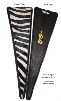 Boot Band to extend the girth of knee high boots.