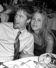 Jennifer Aniston & Brad Pitt at Courtney Cox's wedding 1999
