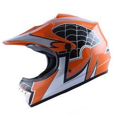 WOW Youth Kids Motocross ATV Dirt Bike Helmets Spider/Camo