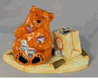 Camping Bear Salt and Pepper Shakers