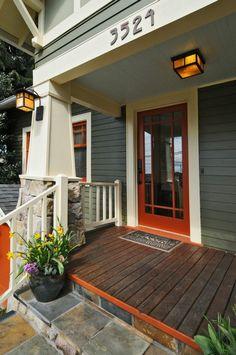 front porch craftsman details