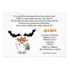 143 best halloween baby shower invitations images on pinterest ghost halloween baby shower invitations filmwisefo