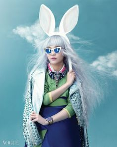 When in doubt: just be a bunny (Vogue Korea 2014).                                                                                                                                                                                 More