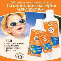 Балев Био Маркет представя Слънцезащитна серия с марка Alphanova Натурална козметика за защита от слънцето, подхранва и защитава кожата от дехидратиране.