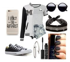 """""""Untitled #75"""" by purplepizza on Polyvore featuring WithChic, Fallon, Converse, NARS Cosmetics and Jules Smith"""